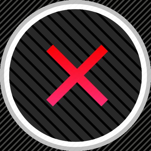 cross, delete, denied, stop, x icon
