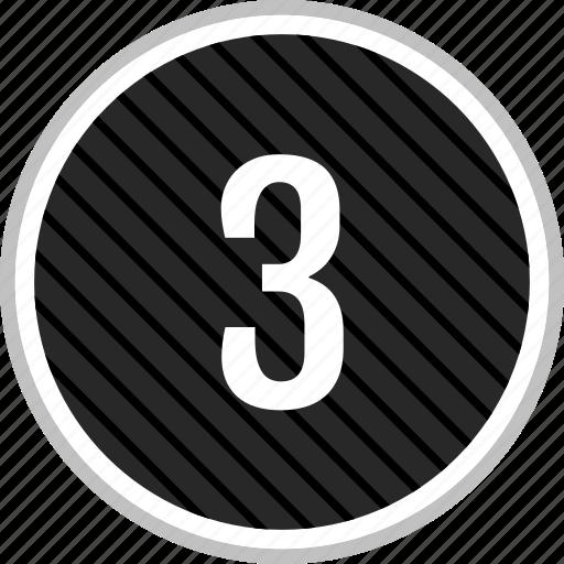 menu, navigation, number, three icon
