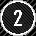 menu, navigation, number, two icon