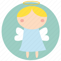 angel, christmas, holiday, little angel, santa, xmas icon