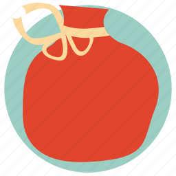 bag, bag with gifts, bag with presents, christmas, gifts, santa's bag icon