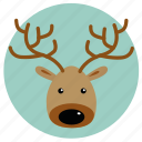 christmas, christmas deer, comet, dancer, deer, rudolph, xmas icon
