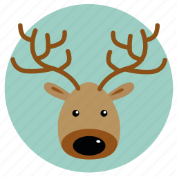 christmas, christmas deer, comet, dancer, deer, rudolph, xmas icon