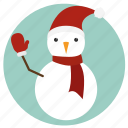 christmas, mitten, new year, snowman, winter, xmas icon