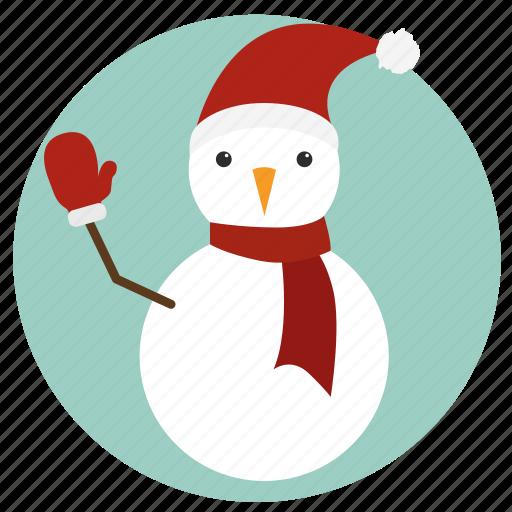 christmas, mitten, new year, snowman, winter, xmas icon