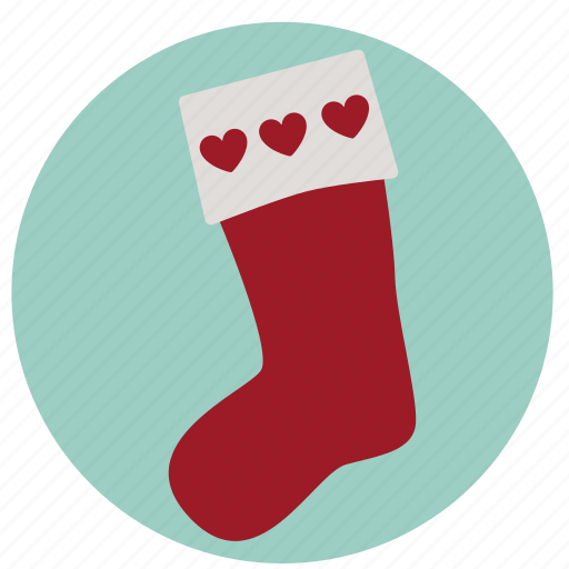 christmas, gift, present, santa, stocking, xmas icon