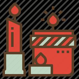 candle, christmas, decoration, xmas icon
