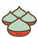 chestnut, christmas, roasted, xmas icon