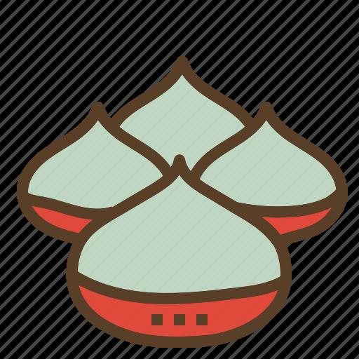chestnut, christmas, roasted, xmas icon
