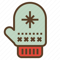 apparel, christmas, decoration, glove, warm, xmas icon