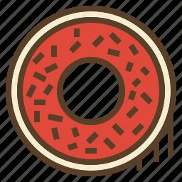christmas, donut, sweet, treats, xmas icon