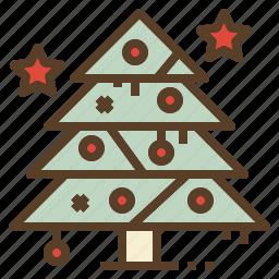 christmas, decoration, pine, tree, xmas icon