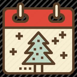 calendar, celebration, christmas, holiday, winter, xmas icon