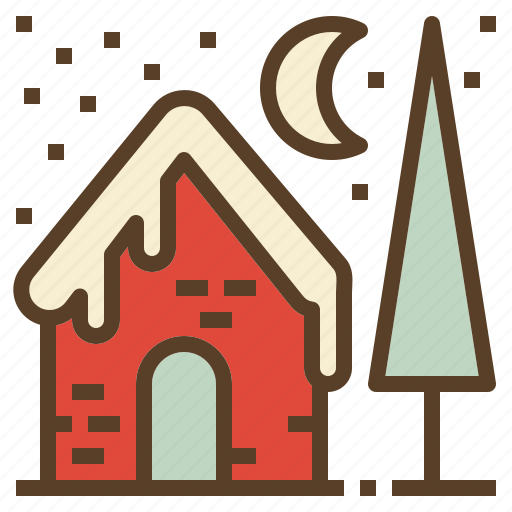 christmas, house, snow, winter, xmas icon