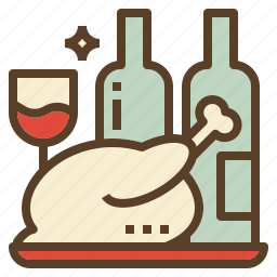 celebration, christmas, food, meal, party icon