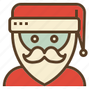 avatar, christmas, claus, santa, xmas icon