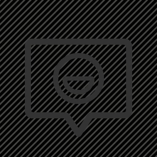chat, emoticon, message, smiley icon