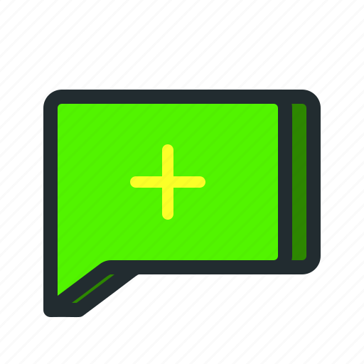 add, chat, comment, message, new, text, write icon