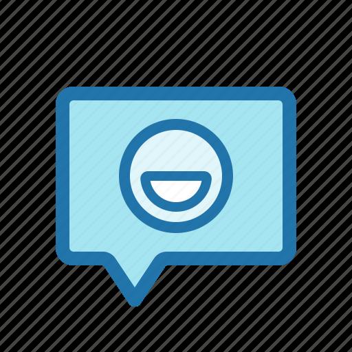 emoji, emoticon, message, smiley icon