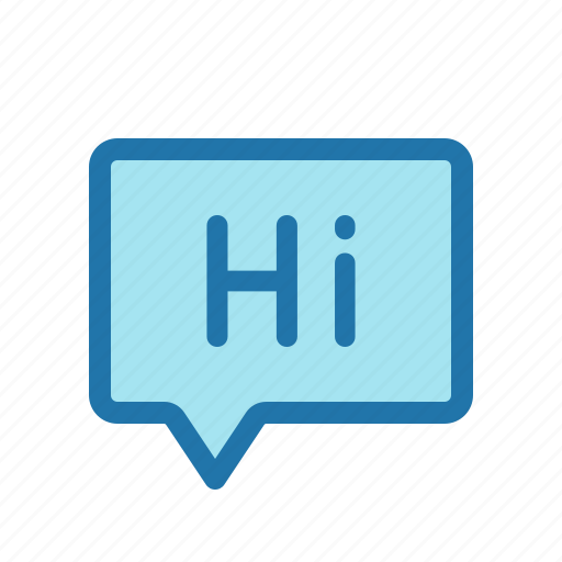 chat, greeting, hi, message icon