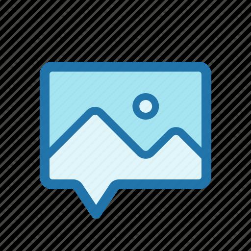 message, multimedia, photo, picture icon