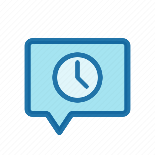 chat, message, pending, scheduled icon