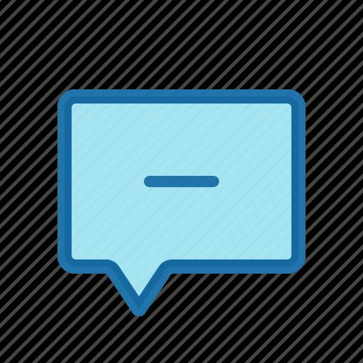 delete, less, message, remove icon