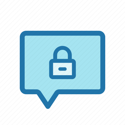 chat, encrypted, locked, message icon
