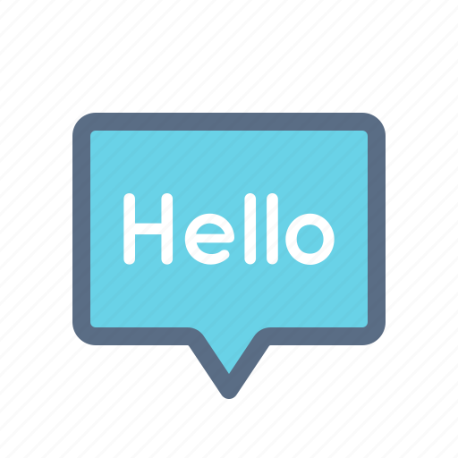 chat, greeting, hello, message, messenger icon
