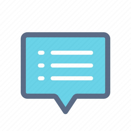 chat, comment, list, message, messenger, text icon