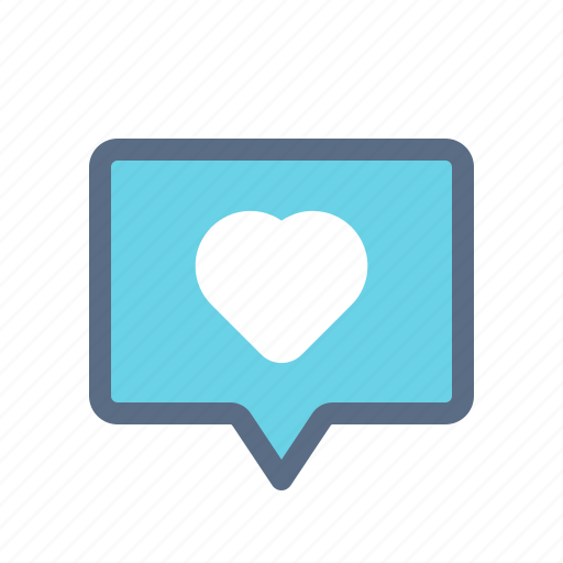 chat, comment, heart, like, love, message, messenger icon