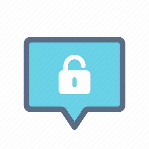 message, unencrypted, unlocked, unsecured icon