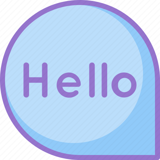 chat, greeting, hello, message icon