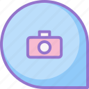 camera, chat, galery, message icon