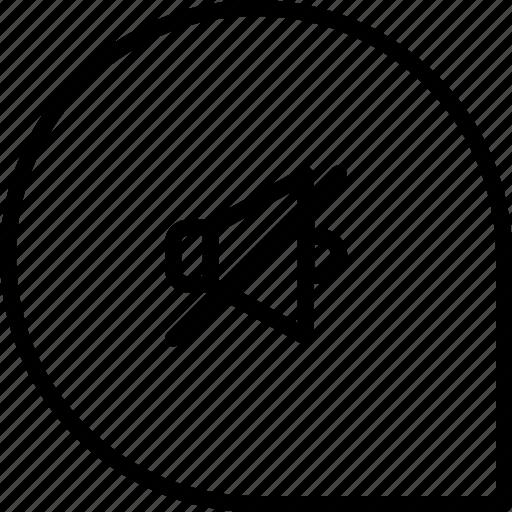 mute, notification, off, sound icon