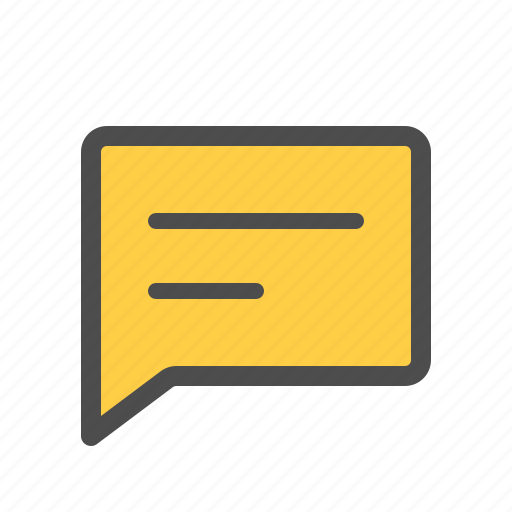 Comment, text, message, messenger, chat icon