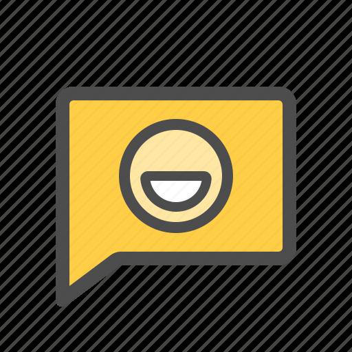 Emoticon, smiley, messenger, chat, message, emoji icon