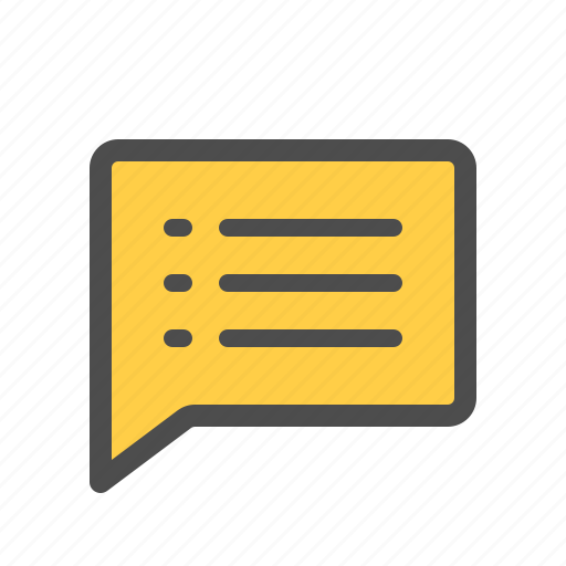 chat, comment, list, message, text icon