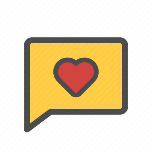 chat, favorite, heart, like, love, message icon