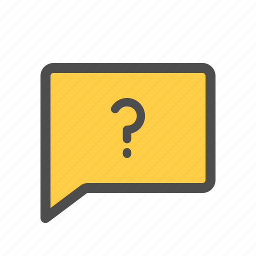 Chat, faq, help, message, question icon - Download on Iconfinder