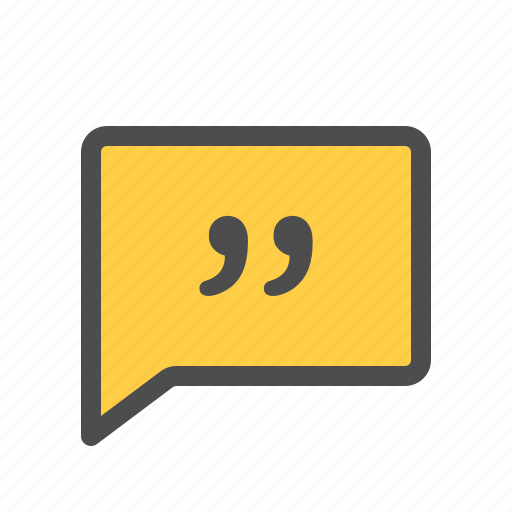 chat, conversation, dialogue, message, quote, speech icon