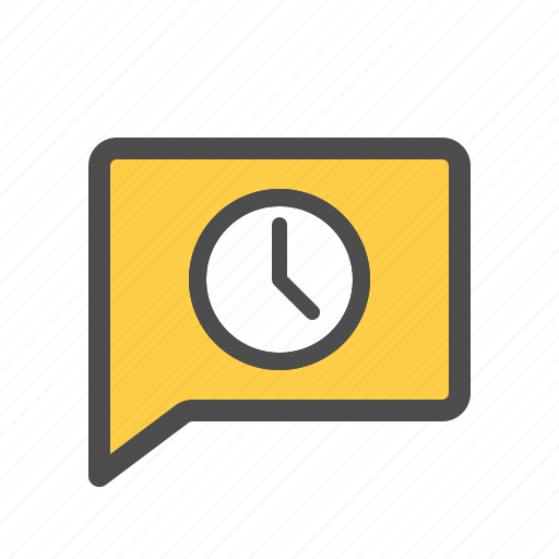 chat, history, message, pending, scheduled, timed icon