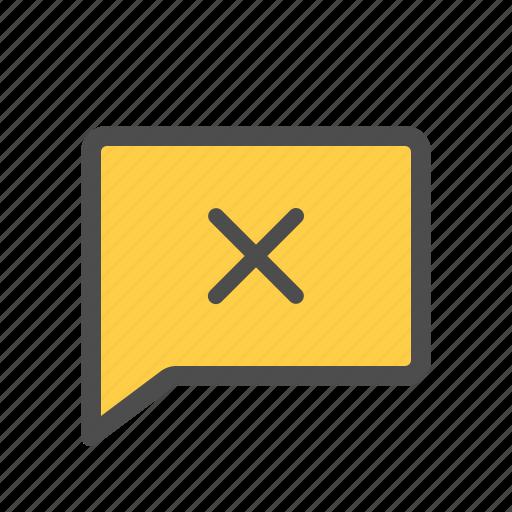 Uncheck, cross, remove, conversation, message, delete icon - Download