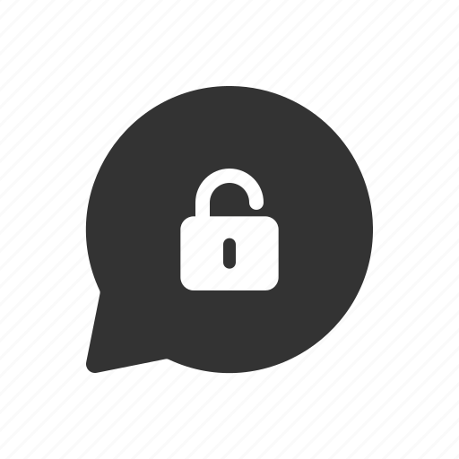 chat, message, messenger, unencrypted icon