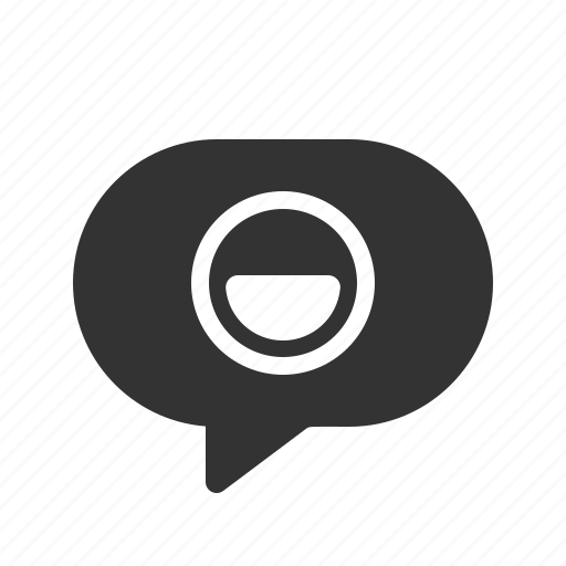 chat, message, messenger, smiley icon