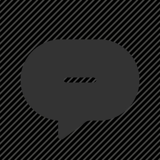 chat, delete, message, messenger icon