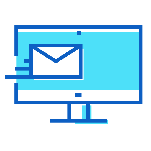imac, incoming, message icon