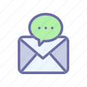 chat, message, mobile, social icon