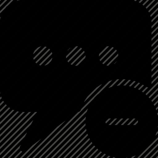 chat, communication, connection, message, remouve icon