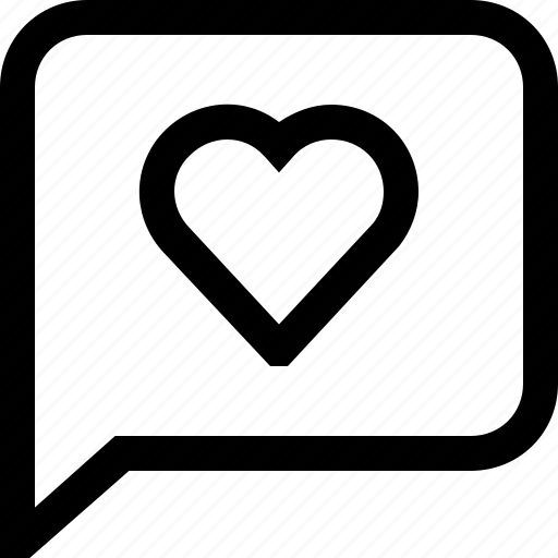 Bubble, chat, dialogue, heart, love, message, speech icon - Download on Iconfinder